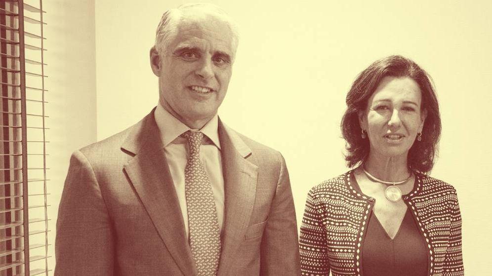 Foto: Andrea Orcel y Ana Botín. (EFE)