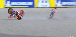 Post de Jorge Lorenzo se fractura una vértebra tras una fuerte caída y no correrá en Assen