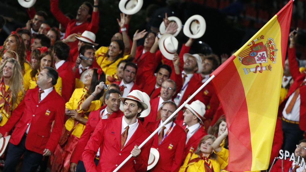 Foto: Pau Gasol, en la ceremonia inaugural de los Juegos de Londres (Efe).