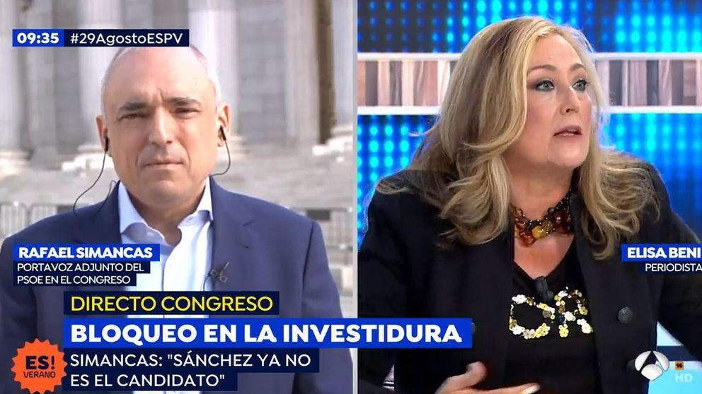 Encontronazo entre Elisa Beni y Rafael Simancas (PSOE) en 'Espejo Público'