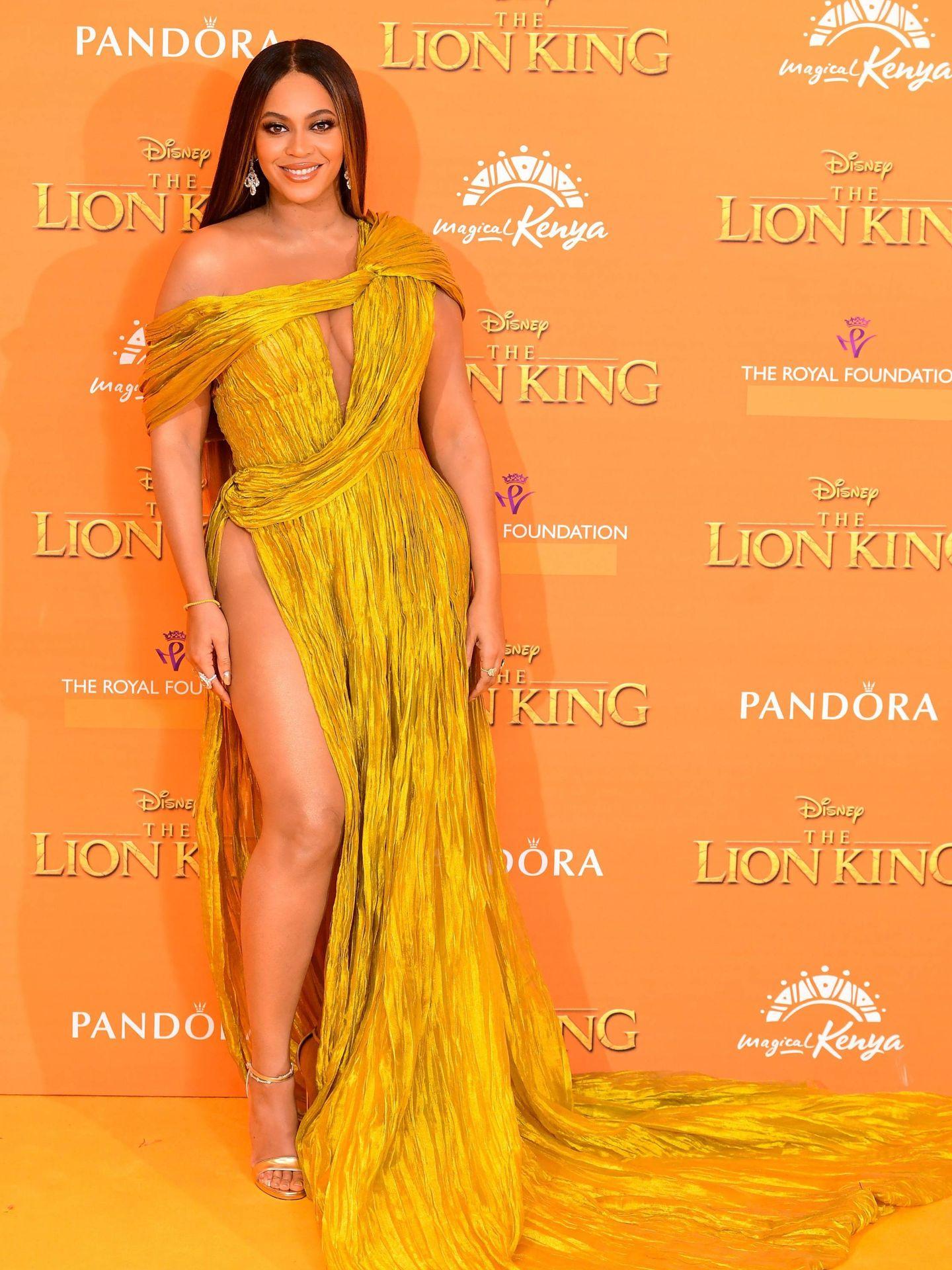 Beyoncé en la première de 'El Rey León' en Londres.