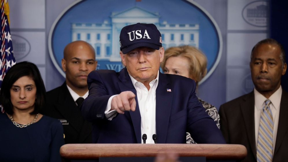 Foto: Donald Trump, durante la rueda de prensa que dio este sábado en la Casa Blanca. (Reuters)