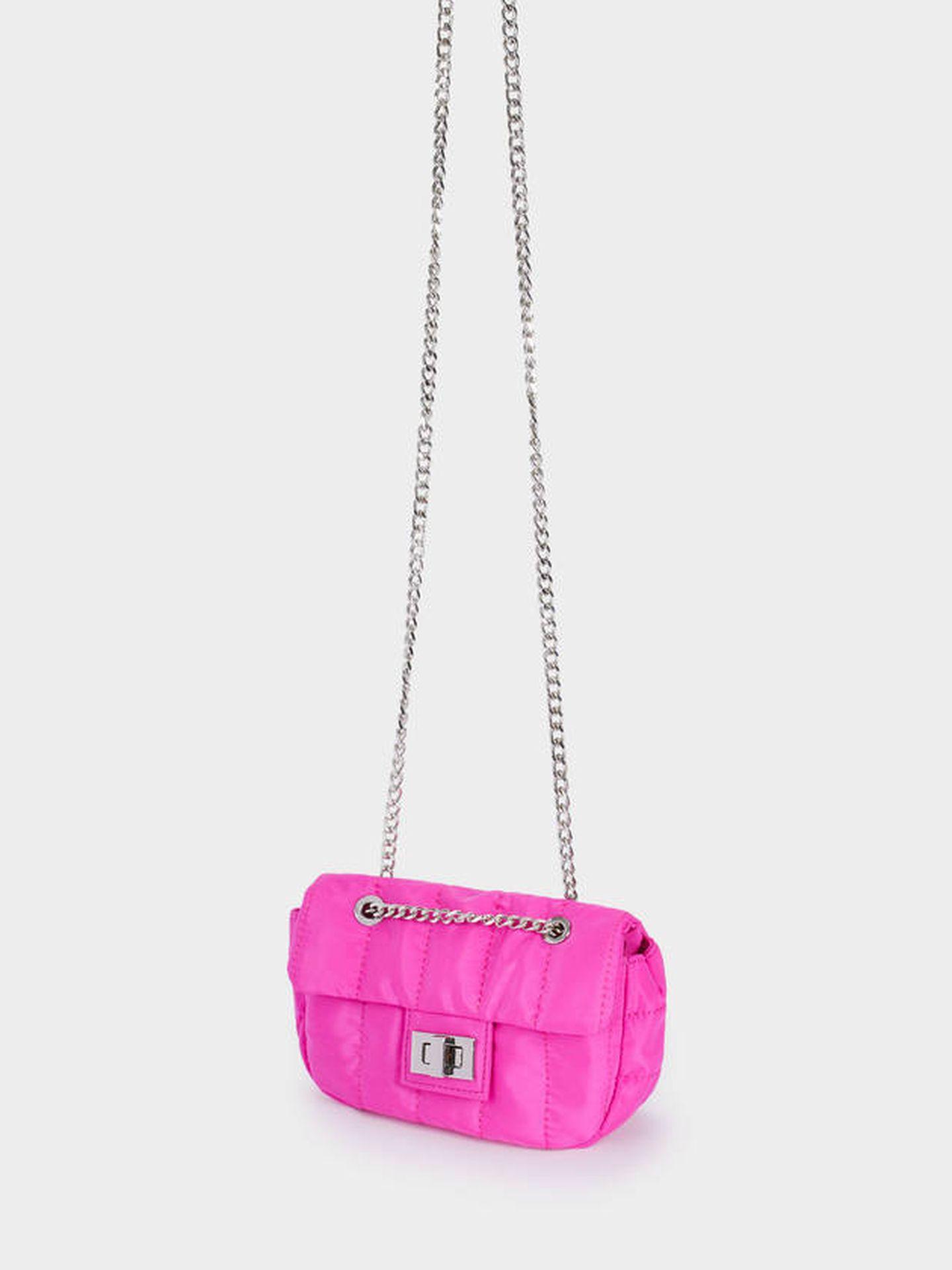 Bolso rosa de Parfois. (Cortesía)