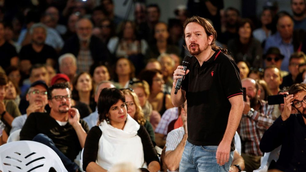 Foto: El líder de Unidas Podemos, Pablo Iglesias, durante su participación hoy en un acto público junto a la líder de Adelante Andalucía, Teresa Rodríguez (i). (EFE)