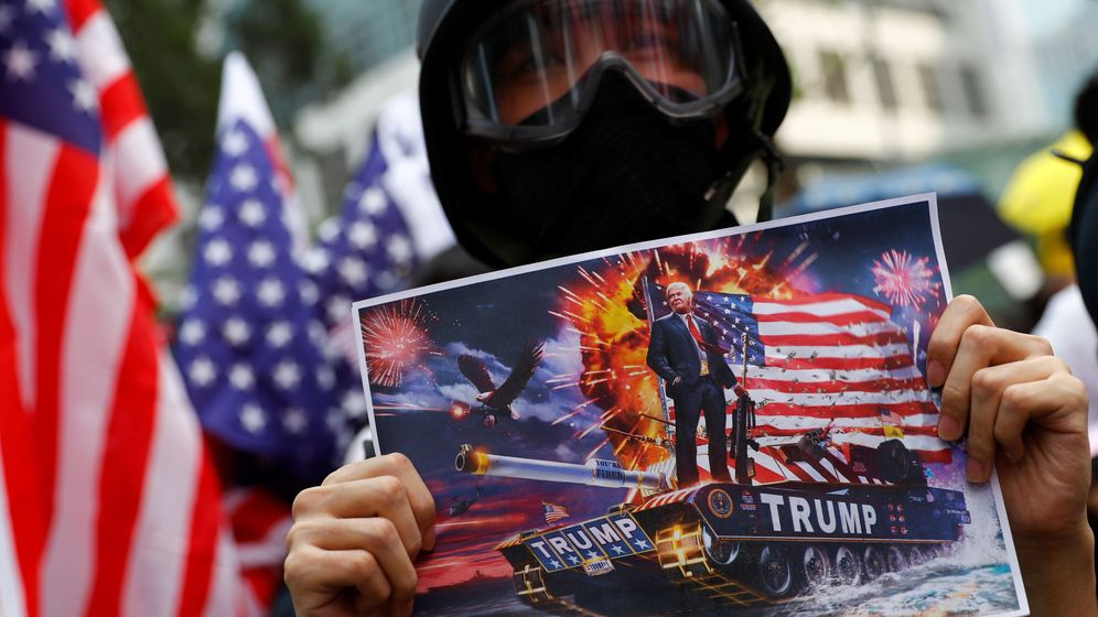 Foto: Un manifestante en Hong Kong (Reuters)