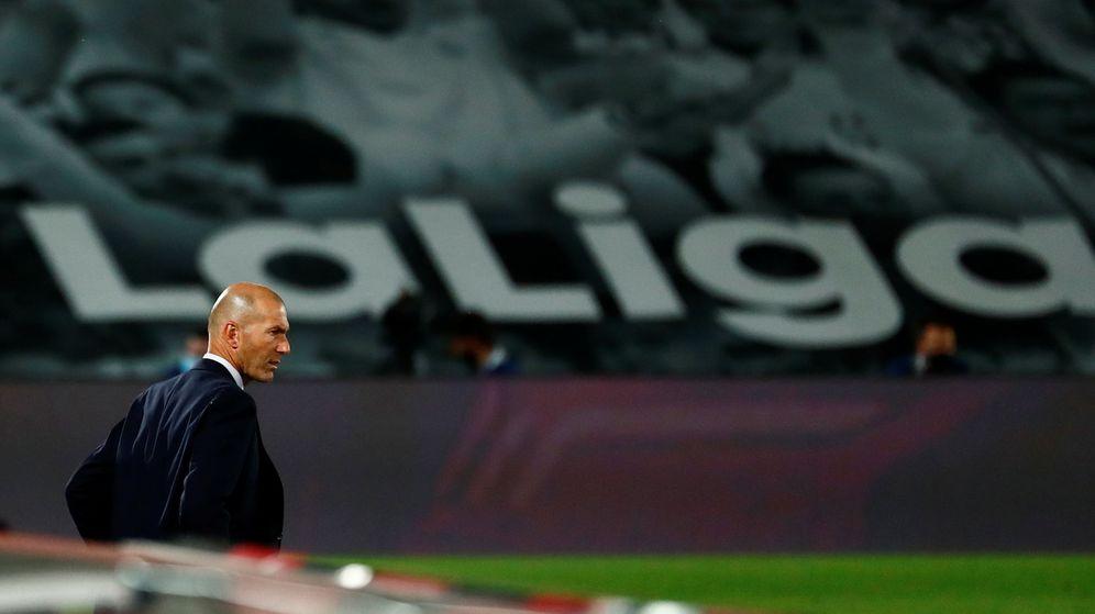 Foto: Zidane, durante el partido del Real Madrid contra el Mallorca, en el Alfredo Di Stéfano. (Reuters)