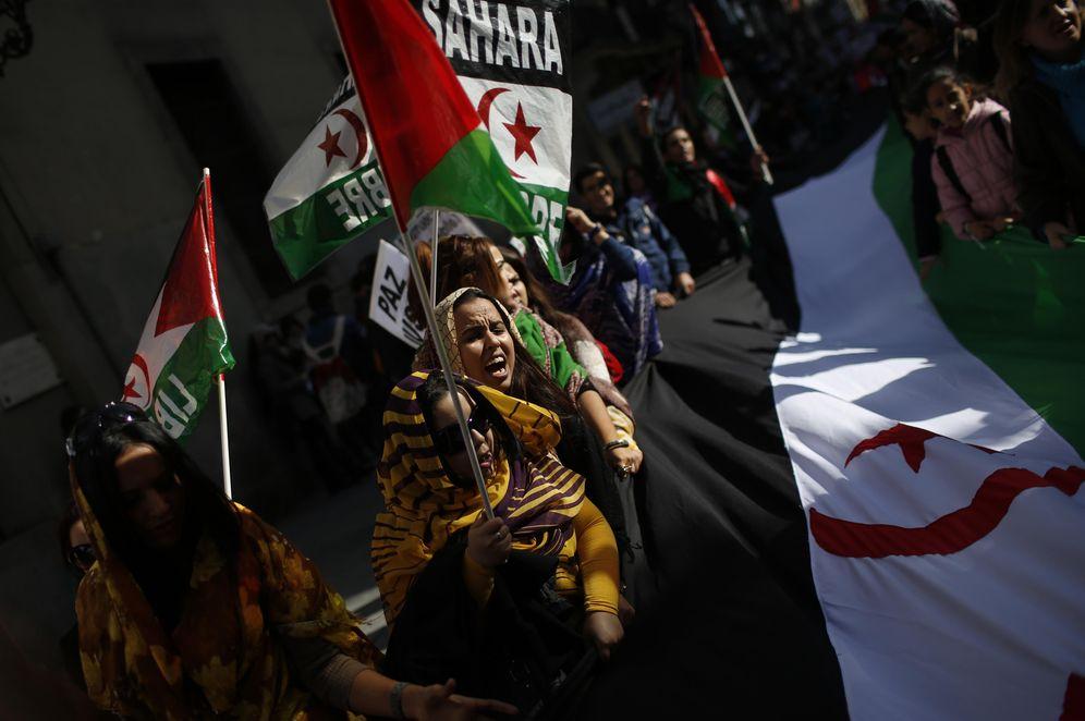 Foto: Manifestación en apoyo de la independencia del Sáhara Occidental en Madrid, el 16 de noviembre de 2014 (Reuters)