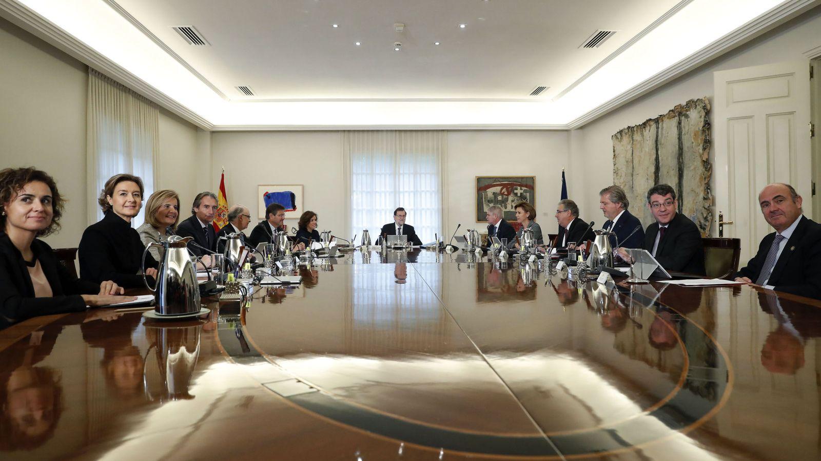 Foto: Reunión del Consejo de Ministros en el Palacio de la Moncloa. (EFE)
