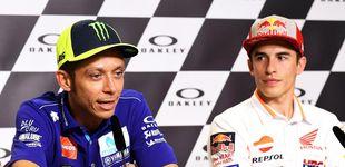 Post de El vergonzoso gesto de Rossi: niega el saludo a Márquez y echa más gasolina a la lucha