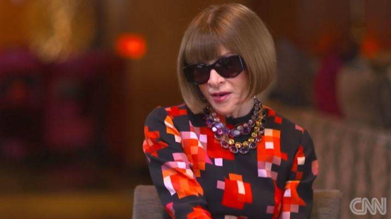 Anna Wintour, en la entrevista de CNN. (CNN)