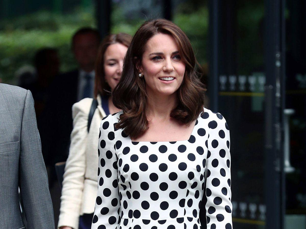 Foto: Kate Middleton, en Wimbledon. (Getty)