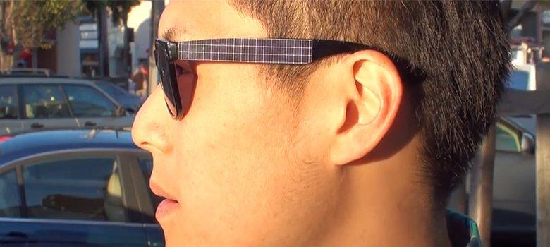 Foto: Las gafas Shama Shades, con paneles solares incorporados