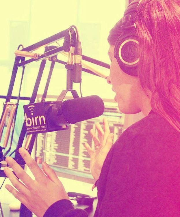 Foto: Mafalda Sajonia-Coburgo en el estudio de grabación.