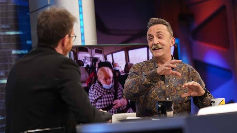 Santi Rodríguez y Pablo Motos, en 'El hormiguero'. (Antena 3)