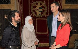 Los Reyes Católicos reciben a los Príncipes de Asturias