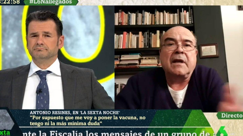 Iñaki López y Resines, en 'La Sexta noche'. (Atresmedia).