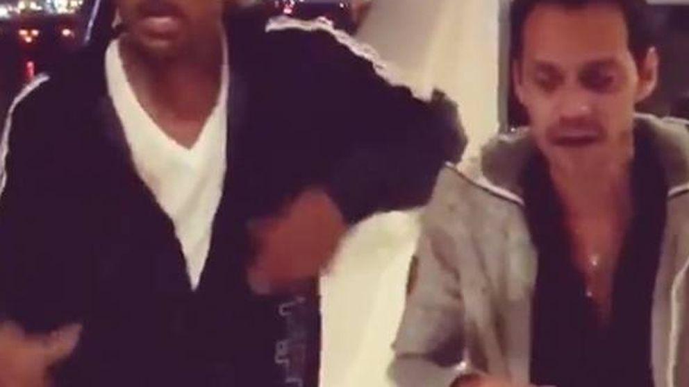 Will Smith y el divertido vídeo en el que Marc Anthony le enseña a bailar salsa