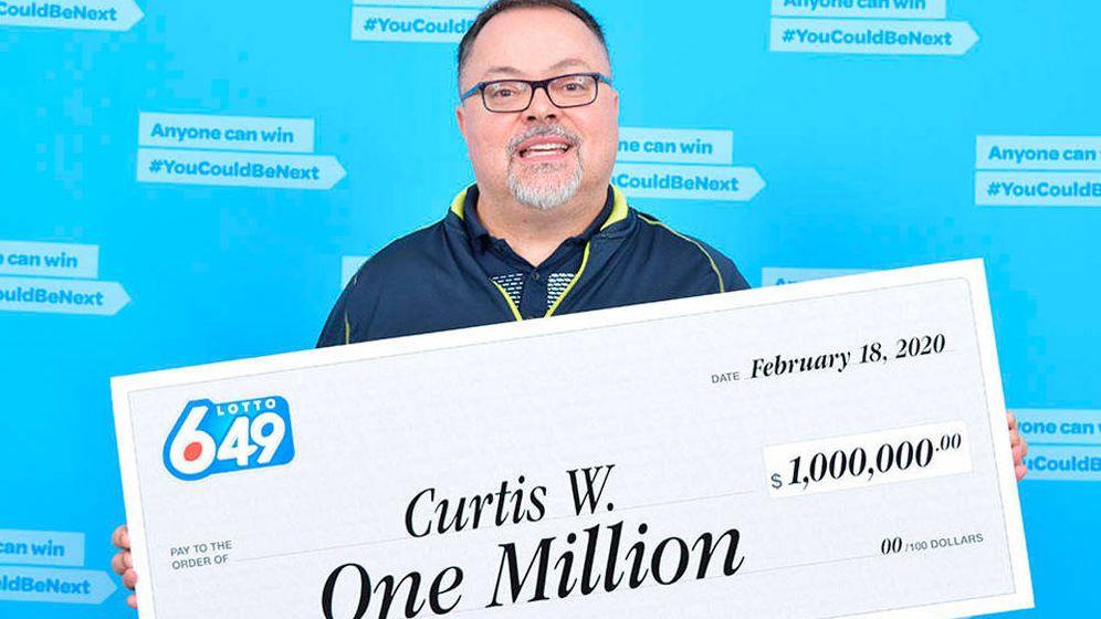 Foto: Curtis Wright se gastará parte del dinero de su premio en un frigorífico de 16.000 dólares (Foto: Lotto 6/49)