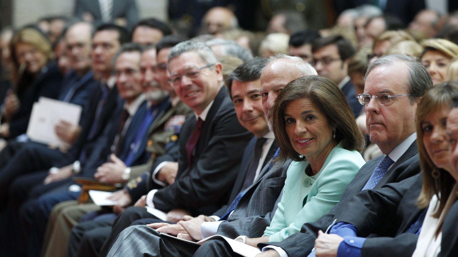 Foto: Alberto Ruiz-Gallardón, Ignacio González y Ana Botella. (EFE)