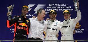 Post de El desastre de Ferrari da alas a Hamilton y a Sainz bajo la luna de Singapur