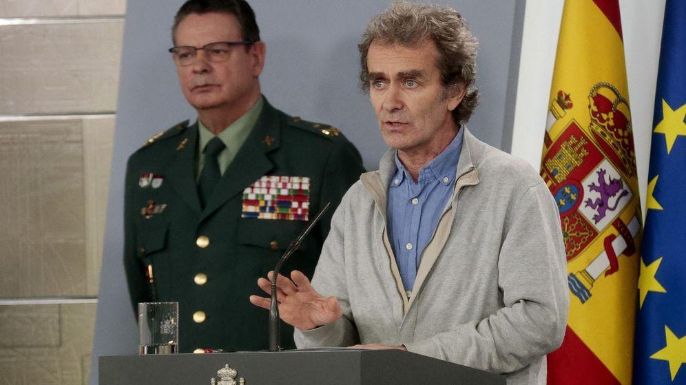 Foto: Fernando Simón, durante una de las comparecencias para informar sobre el coronavirus en España (EFE)