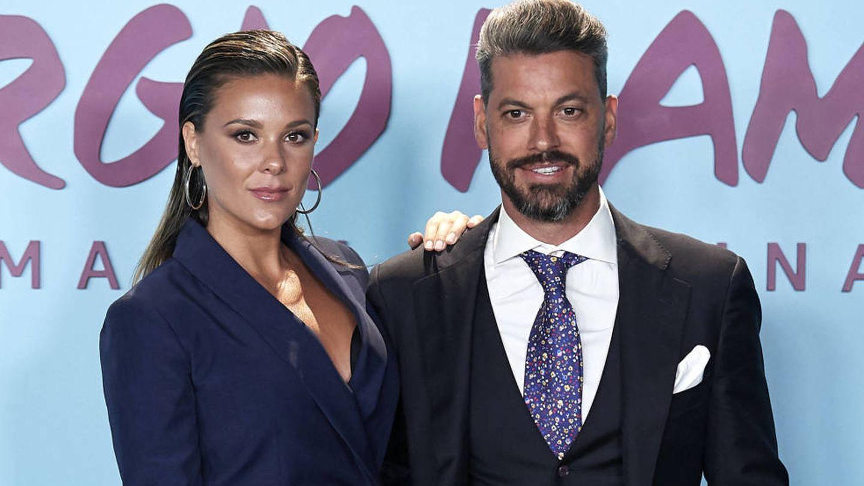René y Lorena Gómez, en el estreno del documental de Sergio Ramos. (Getty)
