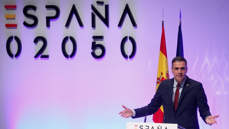 El presidente del Gobierno, Pedro Sánchez, en la presentación del plan 'España 2050'. (EFE)