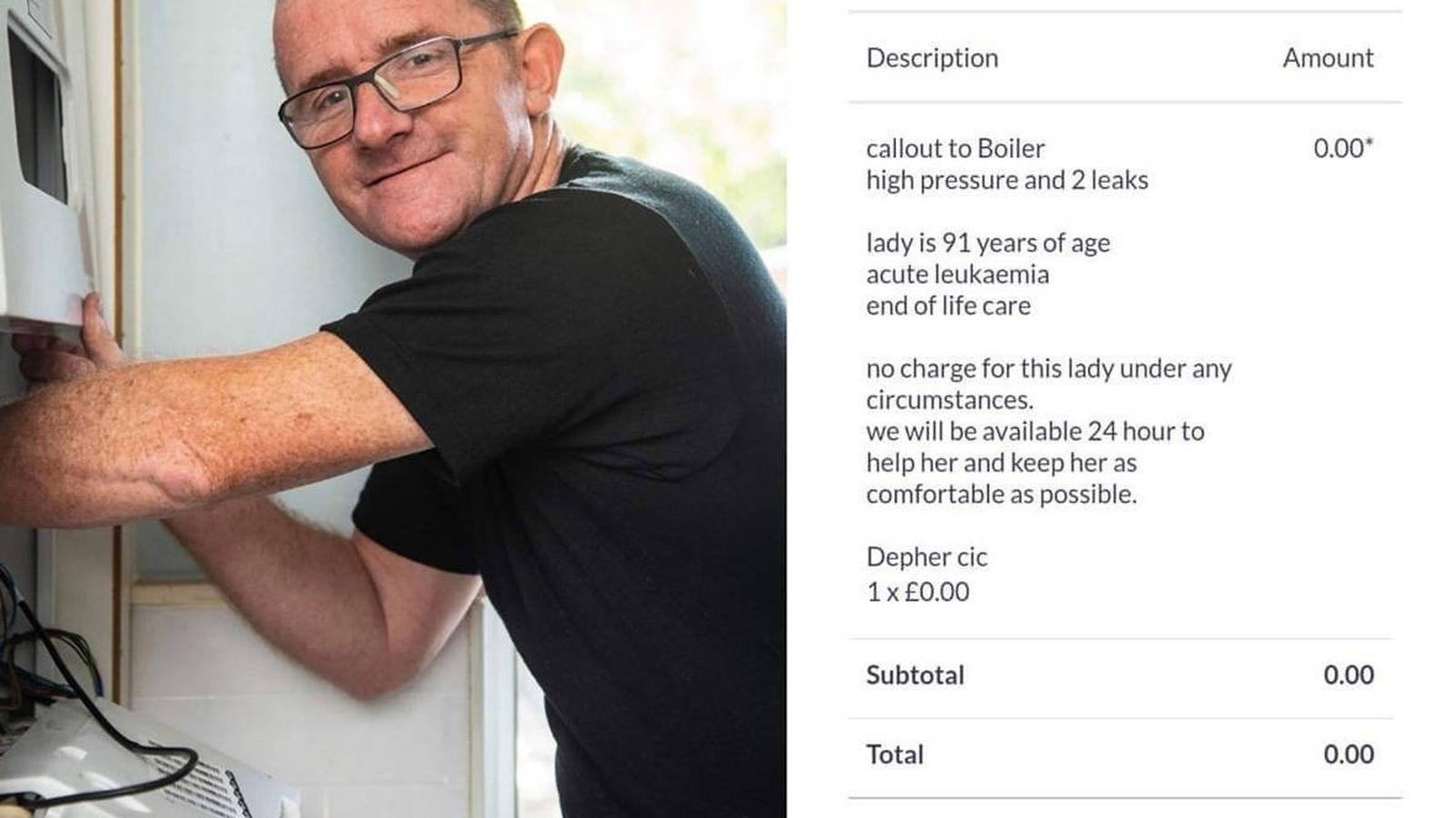 Foto: James Anderson y la factura que le ha hecho mundialmente famoso (Foto: Facebook)