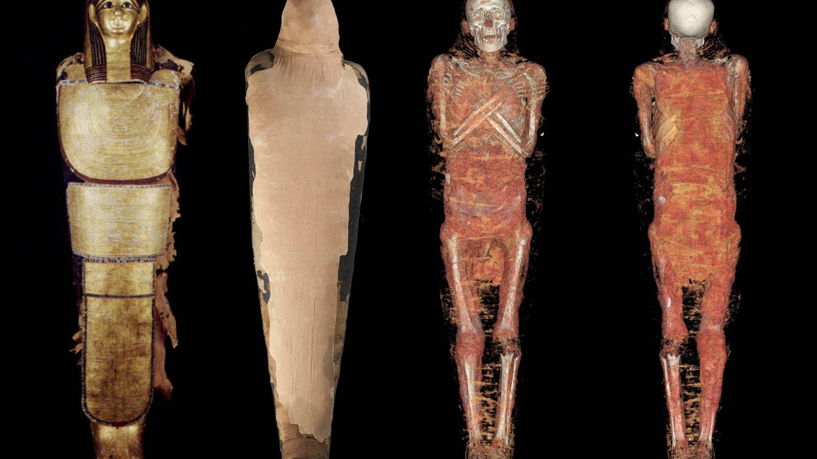Foto: Reconstrucción tridimensional de la momia de Nespamedu (QuirónSalud/MAN)