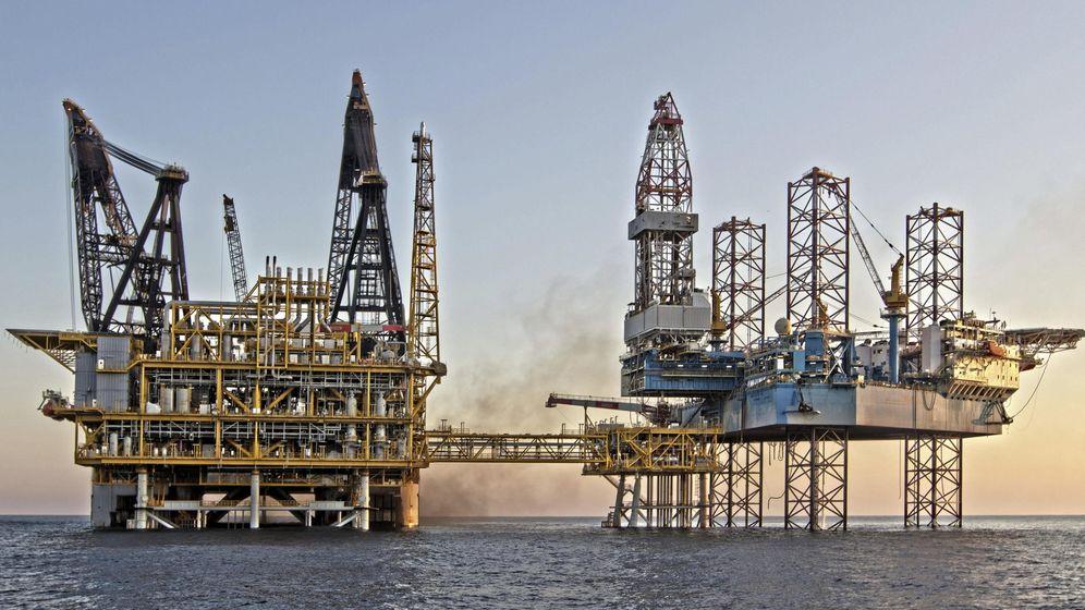 Foto: Plataforma sobre el almacén de gas Castor. (EFE)