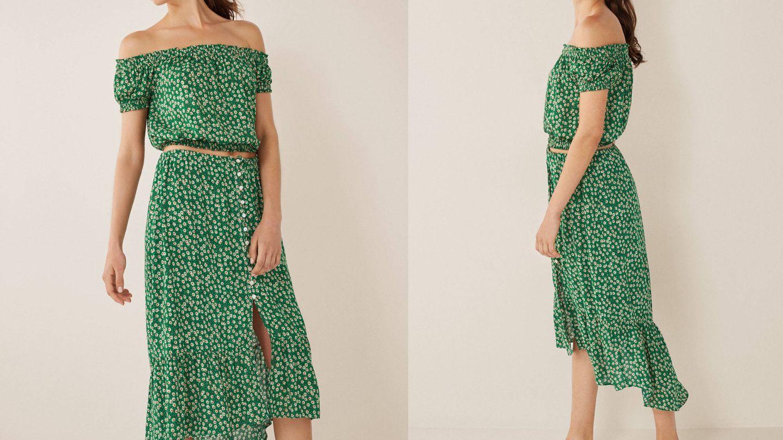 La falda midi de Women'secret que quieres este verano. (Cortesía)