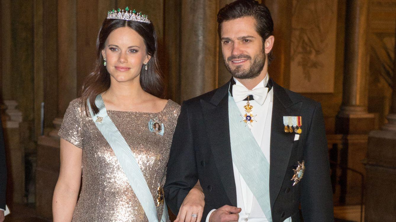 Foto: La princesa Sofía en la cena de gala celebrada este miércoles en el Palacio Real de Estocolmo (Gtres)