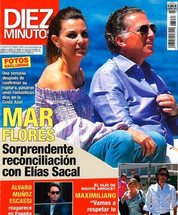 Foto: Portada de la revista 'Diez Minutos' con Mar Flores y Elías Sacal.