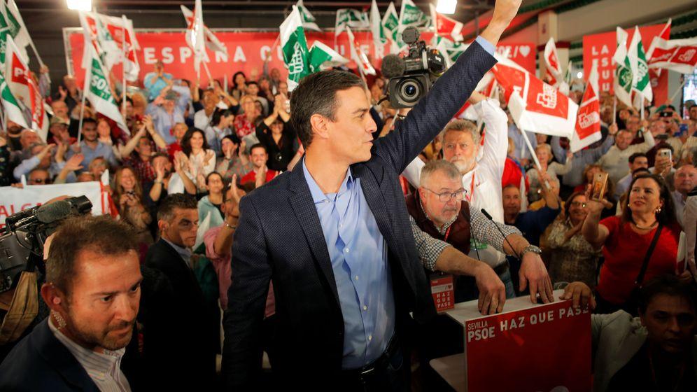 Foto: Pedro Sánchez, este 11 de abril en el acto de arranque de campaña del 28-A en Dos Hermanas, Sevilla. (Reuters)