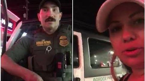 Un policía pide a dos estadounidenses que se identifiquen porque hablan español