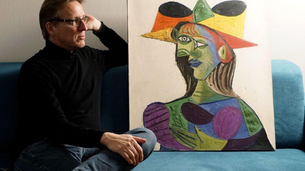Foto: El 'Busto de mujer', de Picasso, recuperado por Arthur Brand. (EFE)
