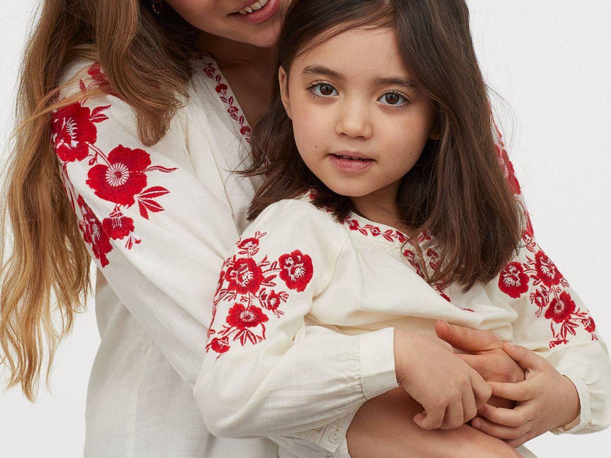 Foto: La blusa con la que HyM quiere vestir a madres e hijas. (Cortesía)