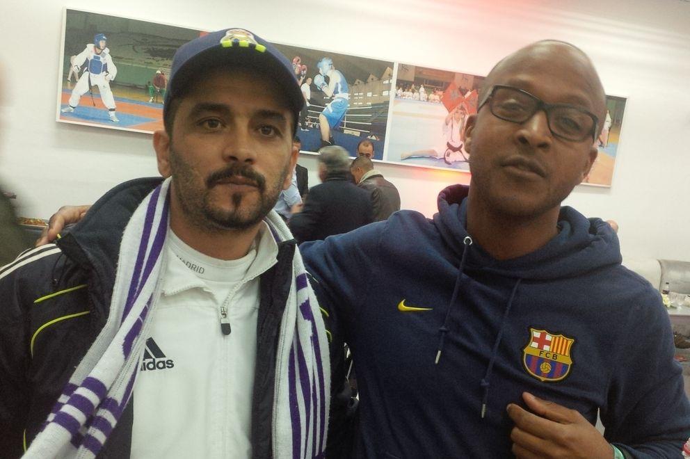 Foto: Un aficionado del Barcelona se coló en la fiesta del Real Madrid (Víctor García).