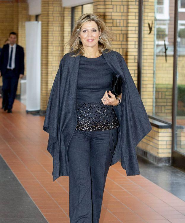 Foto:  Máxima, a su llegada a la conferencia. (Cordon Press)