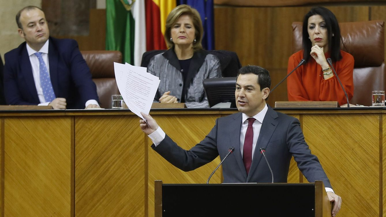 Juanma Moreno Bonilla, presidente de Andalucía con los votos de PP, Cs y Vox