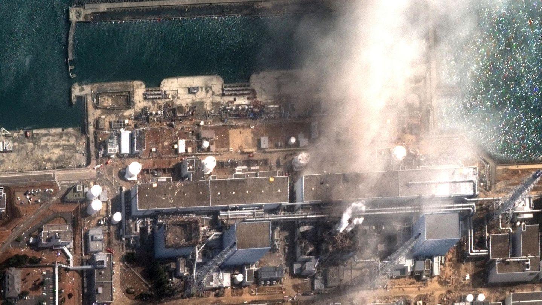 Imagen vía satélite del incendio de la planta de Fukushima el 14 de marzo de 2011.