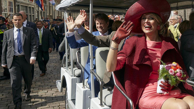 La reina Máxima, celebrando el Día del Rey de 2015. (Reuters)