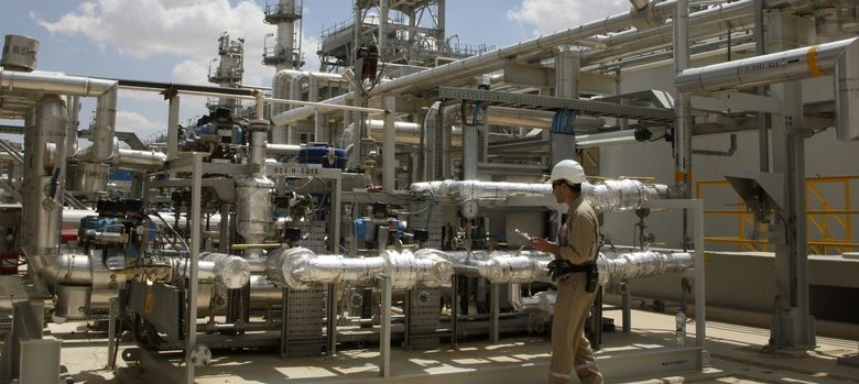 Foto: Planta de gas natural de Ebla, cerca de Homs. (Reuters)