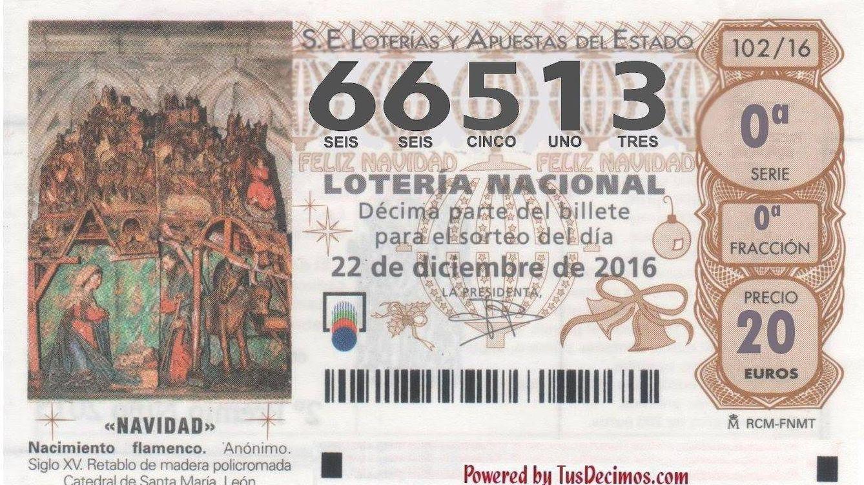 ¡Salió el Gordo!: el primer premio de la Lotería de Navidad cae en el número 66.513