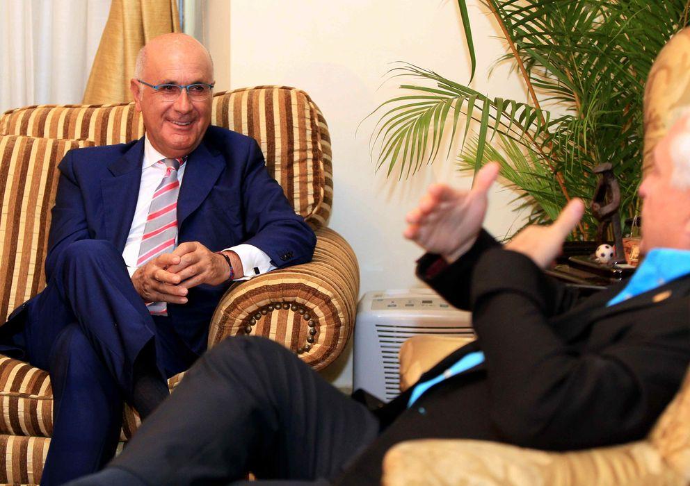 Foto: Josep Antoni Duran i Lleida junto al presidente de Panamá, Ricardo Martinelli. (Efe)