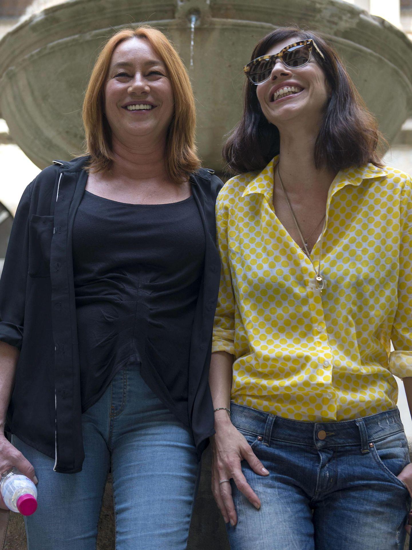 Con Gracia Querejeta, una directora con la que ha rodado en diversas ocasiones, como 'Ola de crímenes', 'Quince años y un día' o 'Siete mesas de billar francés. (EFE)