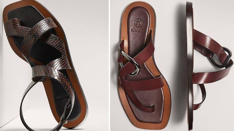 Sandalias de Massimo Dutti. (Cortesía)