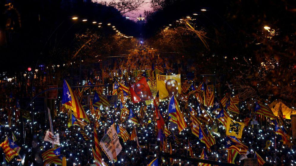 Foto: Imagen de la manifestación en Barcelona. (Reuters)