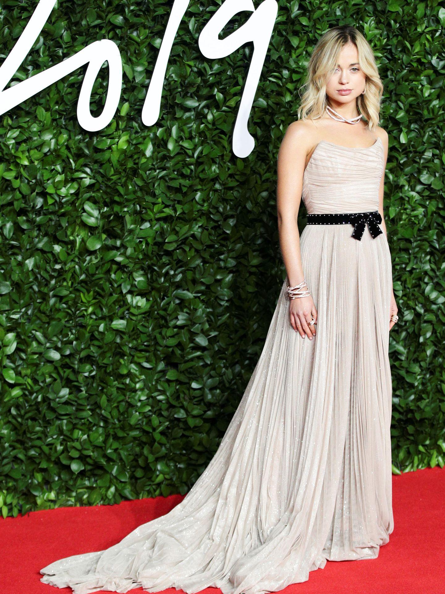 Lady Amelia Windsor, posando en los Fashion Awards 2019 de Londres. (Reuters)