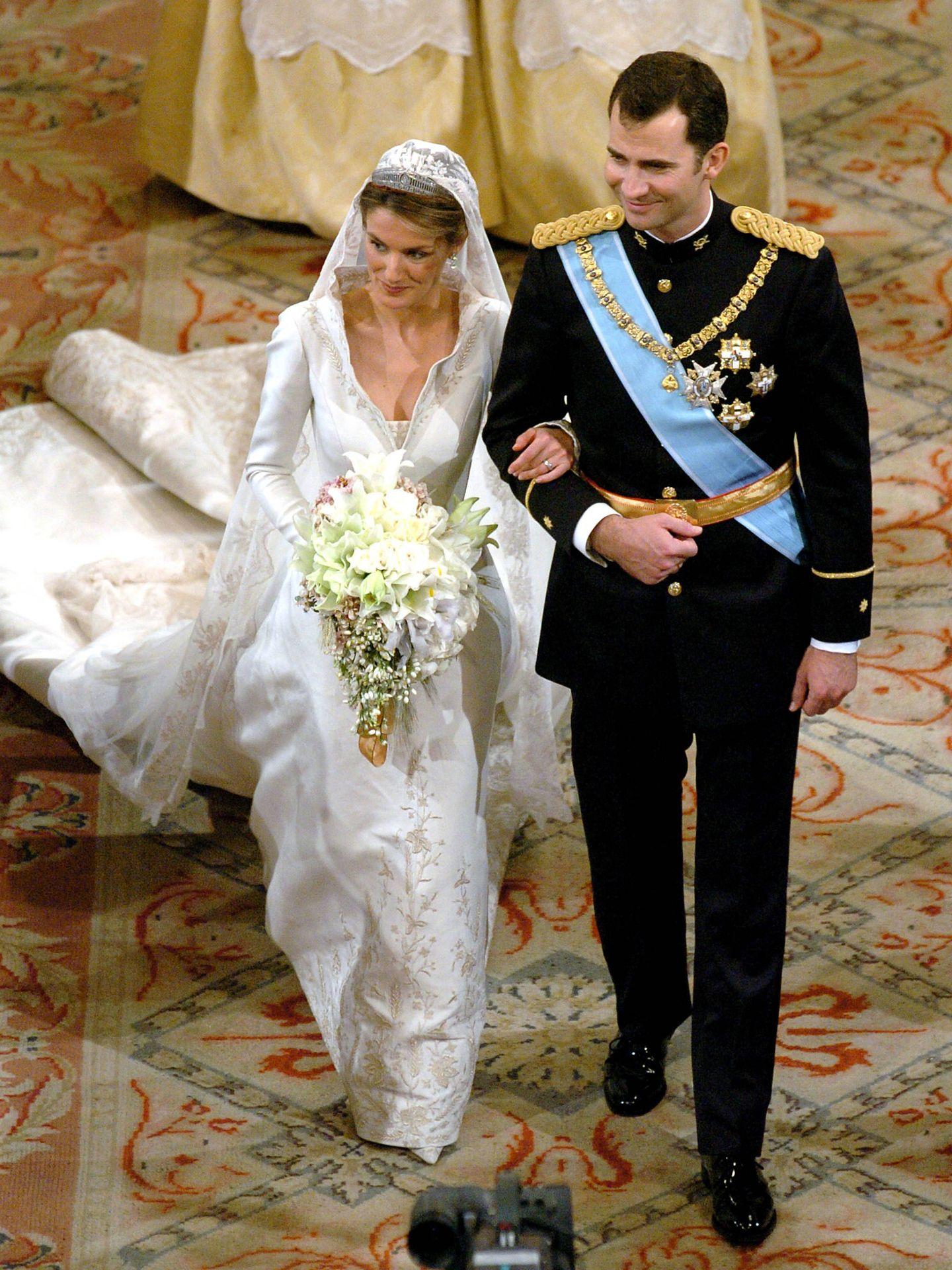 Los Príncipes de Asturias el día de su boda. (Getty)